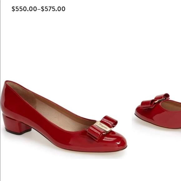 fc8ec70610 Salvatore Ferragamo Shoes | Vara Pump In Patent Red | Poshmark